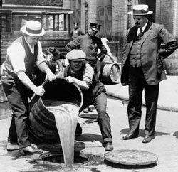 Dumping of Liquor During Prohibition